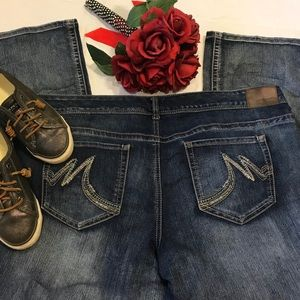 MAURICES 24 SHORT DENIM JEANS
